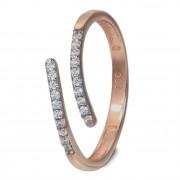 GoldDream Gold Ring Gr.54 Line Zirkonia weiß 333er Roségold GDR524E54