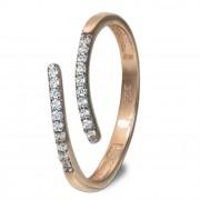 GoldDream Gold Ring Gr.58 Line Zirkonia weiß 333er Roségold GDR524E58