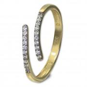 GoldDream Gold Ring Gr.54 Line Zirkonia weiß 333er Gelbgold GDR524Y54