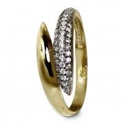 GoldDream Gold Ring Loop Gr.58 Zirkonia weiß 333er Gelbgold GDR525Y58