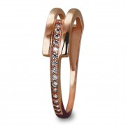 GoldDream Gold Ring Gr.56 Zirkonia weiß 333er Rosegold GDR526E56