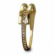 GoldDream Gold Ring Gr.60 Zirkonia weiß 333er Gelbgold GDR526Y60
