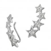 SilberDream Ear Cuff Sterne Zirkonia Ohrringe Ohrklemme 925 Silber GSO411W