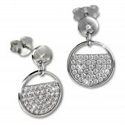 SilberDream Glitzer Ohrstecker Glamour Zirkonia weiß 925 Silber Ohrring GSO513W