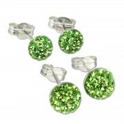 SilberDream Set Ohrstecker Halbkugel 5,7mm grün Ohrring 925 Silber GSS202L