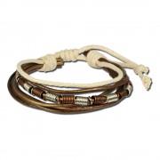 SilberDream Lederarmband metallic braun Surferarmband Armband LA1237F
