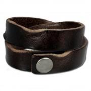 SilberDream Lederarmband braun used look Leder Armband LAP518B