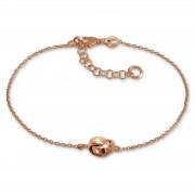 SilberDream Armband verschlungen 925 Silber rosévergoldet Damen 18-21cm SDA1138E
