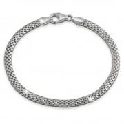 SilberDream Armband Geflecht 925 Sterling Silber Damen 19cm SDA2349J