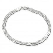 SilberDream Armband geflochten 925 Sterling Silber Damen 19cm SDA2479J