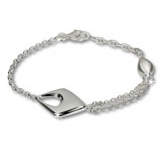SilberDream Armband Drop 925 Sterling Vollsilber 18,5cm SDA413