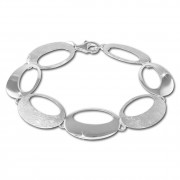 SilberDream Armband Retro Design matt/glänzend 925 Sterling Silber 19,5cm SDA435