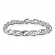 SilberDream Armband Zopf 925er Silber 19cm Silberarmband SDA438J