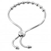 SilberDream Armband Kugelkette Zugverschluss 925er Silber Damen SDA7002J