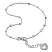 SilberDream Fußkette Herz offen 26cm 925 Sterling Silber SDF2096