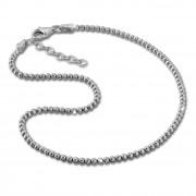 SilberDream Fußkette Kugeln 27cm diamantiert 925 Sterling Silber SDF2164J