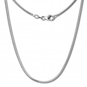 SilberDream Schlangenkette 925 Silber Halskette 50cm Kette SDK20150