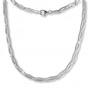 SilberDream Collier Kette Blütenblatt 925 Silber 45cm Halskette Damen SDK428