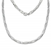 SilberDream Collier Kette Muster 925er Silber 45cm Damen Halskette SDK437J