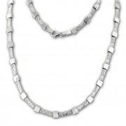 SilberDream Collier Kette Square 925er Silber 45,5cm Damen Halskette SDK475J