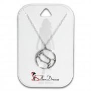 SilberDream Halskette Sternzeichen Zwilling 925 Silber 45cm Damen Kette SDK8506W