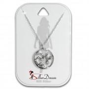 SilberDream Halskette Sternzeichen Schütze 925 Silber 45cm Damen Kette SDK8512W