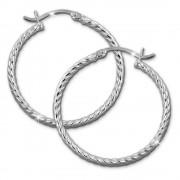 SilberDream Creole gedreht 30mm Damen Ohrring 925 Sterling Silber SDO0063J