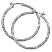 SilberDream Creole gedreht 40mm Damen Ohrring 925 Sterling Silber SDO0064J