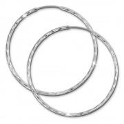 SilberDream Creole glänzend 50mm Damen Ohrring 925 Sterling Silber SDO0085J