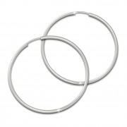 SilberDream Creole Simply matt 50mm Ohrring 925 Silber Schmuck SDO0975
