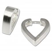 SilberDream Creole Herz matt 925 Sterling Silber Ohrring SDO304