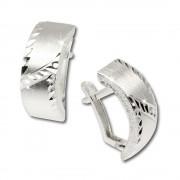 SilberDream Ohrringe gewölbt diamantiert 925 Silber Ohrstecker SDO316