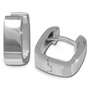 SilberDream Creole Glanz eckig 925 Sterling Silber Ohrring SDO347S