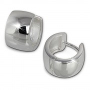 SilberDream Creole Glanz 13mm 925 Sterling Silber Ohrring SDO372S