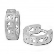 SilberDream Creole Muster Herz 925 Sterling Silber Damen Ohrring SDO376M