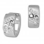 SilberDream Creole Unendlich Zirkonia weiß 925 Sterling Silber Damen SDO383W