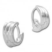 SilberDream Creole Return 16mm 925 Sterling Silber Ohrring SDO4278J