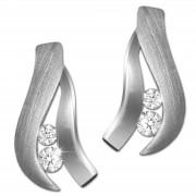 SilberDream Ohrstecker Beauty Zirkonia weiß 925 Silber Damen Ohrring SDO4304W