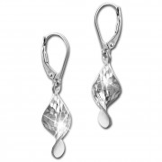 SilberDream Ohrhänger Twisted diamantiert 925er Silber Damen Ohrring SDO4319J