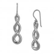 SilberDream Ohrhänger Unendlich 925er Silber Damen Ohrringe SDO451J