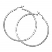 SilberDream Creole Muster 55mm Ohrring 925 Sterling Silber SDO465J