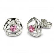 SilberDream Ohrringe Design Zirkonia rosa 925 Silber SDO528P