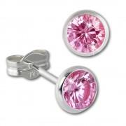 SilberDream Ohrring Zirkonia rosa 5mm 925 Silber Ohrstecker SDO5535A