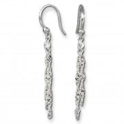 SilberDream Ohrringe 2-Kettchen Zirkonia 925 Silber Ohrhänger SDO560