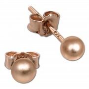 SilberDream Ohrringe Kugel matt 925 Silber rosevergoldet Ohrstecker SDO597E4M
