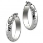 SilberDream Creole gehämmert 2,5cm 925 Sterling Silber Damen Ohrring SDO67282