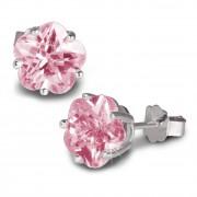 SilberDream Ohrringe Blume Zirkonia rosa 925 Silber Ohrstecker SDO738A