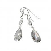 SilberDream Ohrhänger Tropfen Zirkonia weiß 925 Silber SDO8601W