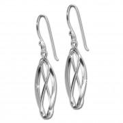 SilberDream Ohrringe verschlungenes Oval 925 Silber Ohrhänger SDO8803