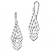 SilberDream Ohrringe Dreiecke glänzend 925er Silber Damen Ohrhänger SDO8815J